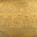 Mosaic, lower part and inscriptions - Gilead Peli all rights reserved © <i> synagogues.kinneret.ac.il </i>