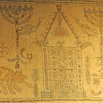 Mosaic,  upper part - Gilead Peli all rights reserved © <i> synagogues.kinneret.ac.il </i>