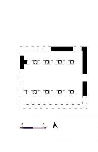 תוכנית בית הכנסת בסאסא. ציירה- דינה שלם. © <i> synagogues.kinneret.ac.il </i>