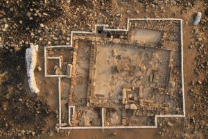 Aerial view, courtesy of the Kinneret Regional Project © <i> synagogues.kinneret.ac.il </i>