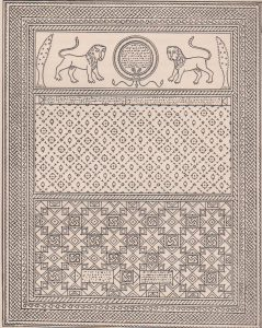 Mosaic reconstruction, Sukeinik 1935: 37 © <i> synagogues.kinneret.ac.il </i>