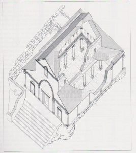Reconstruction, Yevin 2000: 57, courtesy of the Israel Antiquities Authority © <i> synagogues.kinneret.ac.il </i>