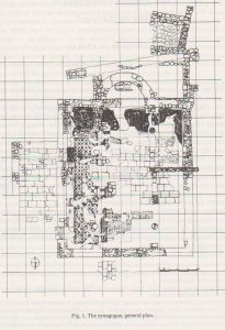General plan, Tzaferis 1982: 216 courtesy of the Israel Antiquities Authority and  the  Israel Exploration Society © <i> synagogues.kinneret.ac.il </i>