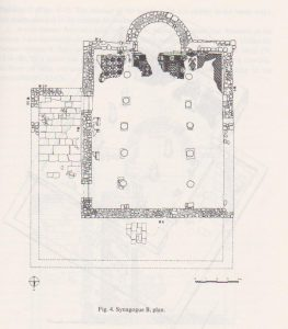 Synagogue B, Tzaferis 1982: 219 courtesy of the Israel Antiquities Authority and  the  Israel Exploration Society © <i> synagogues.kinneret.ac.il </i>