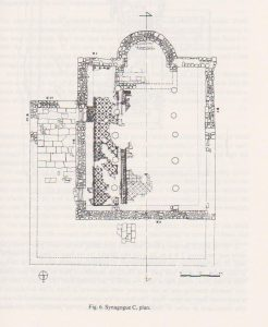 Synagogue C, Tzaferis 1982: 221  courtesy of the  Israel Antiquities Authority and  the  Israel Exploration Society © <i> synagogues.kinneret.ac.il </i>