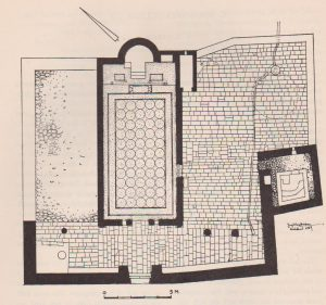 Reconscruction plan Hiram 1960: 20, courtesy of the Institute of Archaeology  the Hebrew Univestiy of Jerusalem © <i> synagogues.kinneret.ac.il </i>