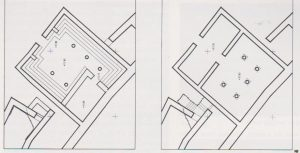 The two phases Netzer 1991: 403 plan 35, courtesy of the Israel Exploration Society © <i> synagogues.kinneret.ac.il </i>