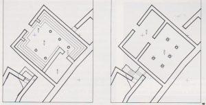 שני השלבים. נצר 1991, 403, תוכנית 35. באדיבות החברה לחקירת ארץ ישראל. © <i> synagogues.kinneret.ac.il </i>