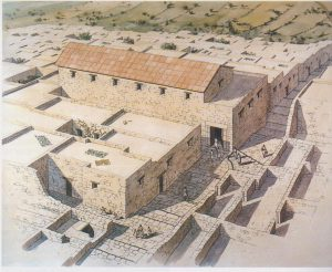 Isometric reconstruction, Weiss 2005: 38,drawing Balage, courtesy of Prof. Zeev Weiss, The Sepphoris Excavations​, The Hebrew University of Jerusalem​. © <i> synagogues.kinneret.ac.il </i>