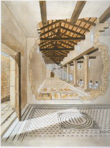 Artist's reconstruction, Weiss 2005: 44, drawing Balage, courtesy of Prof. Zeev Weiss, The Sepphoris Excavations​, The Hebrew University of Jerusalem​. © <i> synagogues.kinneret.ac.il </i>