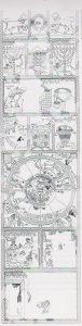 פסיפס. וייס 2005, 240. ציירה- פנינה ערד. באדיבות פרופ' זאב וייס, חפירות ציפורי, האוניברסיטה העברית בירושלים. © <i> synagogues.kinneret.ac.il </i>