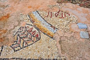 Mosaic fragment - Gilead Peli all rights reserved © <i> synagogues.kinneret.ac.il </i>