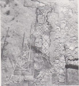 Part of the mosaic, Kaplan 1978: 79, courtesy of the Israel Exploration Society  © <i> synagogues.kinneret.ac.il </i>