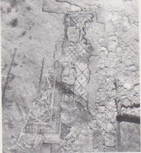 קטע של פסיפס. קפלן 1978, 79. באדיבות החברה לחקר ארץ ישראל.  © <i> synagogues.kinneret.ac.il </i>