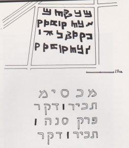 Samaritan inscription, Kaplan 1978: 80, courtesy of the Israel Exploration Society  © <i> synagogues.kinneret.ac.il </i>