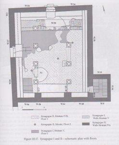 בית כנסת 1,2. חכלילי 2013, 85. ציור- נטשה זאק, רשות העתיקות. באדיבות- רחל חכלילי. © <i> synagogues.kinneret.ac.il </i>
