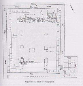 בית כנסת 1. חכלילי 2013, 83. ציור- נטשה זאק, רשות העתיקות. באדיבות-רחל חכלילי. © <i> synagogues.kinneret.ac.il </i>