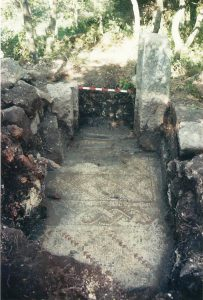 Mosaic near the entrance - courtesy of Yigal Ben Ephraim © <i> synagogues.kinneret.ac.il </i>