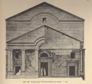 Reconstruction, Kohl and Watzinger 1916: 97 © <i> synagogues.kinneret.ac.il </i>