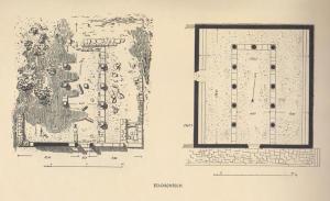 תוכנית. Kohl and Watzinger 1916:Tafel XV © <i> synagogues.kinneret.ac.il </i>