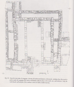 Plan stone by stone. Meyers et.al. 1990:76. Courtesy of Eric Meyers. © <i> synagogues.kinneret.ac.il </i>