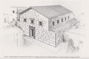 Reconstruction of phase 1. Meyers et. al. 1990:66. Courtesy of Eric Meyers. © <i> synagogues.kinneret.ac.il </i>