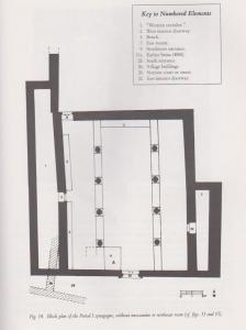 Plan, phase 1. Meyers et. al. 1990:65. Courtesy of Eric Meyers  © <i> synagogues.kinneret.ac.il </i>