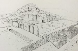 Isometric view of remains - Meyers, Strange, Meyers 1981:11. Courtesy of Eric Meyers. © <i> synagogues.kinneret.ac.il </i>