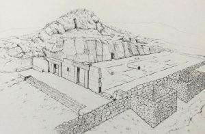 Isometric view of remains - Meyers, Strange, Meyers 1981:11. Courtesy of Eric Meyers © <i> synagogues.kinneret.ac.il </i>