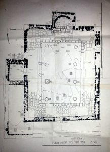 Synagogue plan phase 3. Courtesy of Yossi Buchman. © <i> synagogues.kinneret.ac.il </i>