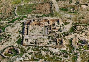 Aerial view, courtesy of Avraham Graicer all rights reserved to Avraham Graicer © <i> synagogues.kinneret.ac.il </i>