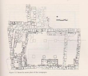 Plan stone by stone. Meyers et. al. 1990:35. Courtesy of Eric Meyers © <i> synagogues.kinneret.ac.il </i>