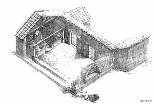 Isometric reconstruction, Amit 2003: fig. 10.5 © <i> synagogues.kinneret.ac.il </i>