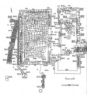 Excavation plan Amit 2003: fig. 1.5 © <i> synagogues.kinneret.ac.il </i>