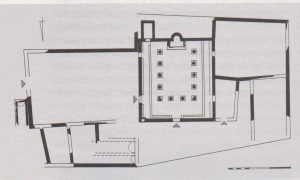 Plan of later phase, Ilan and Izdarechet 1989: 111, courtesy of Avraham Izdarechet and the Israel Exploration Society © <i> synagogues.kinneret.ac.il </i>