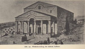 Reconstruction, Kohl and Watzinger 1916: 100 © <i> synagogues.kinneret.ac.il </i>