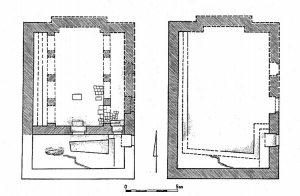 מימין-שלב 1, משמאל- שלב 2. עמית 2003, תמונה 8.4. © <i> synagogues.kinneret.ac.il </i>