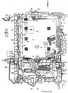 תוכנית החפירה. עמית 2003, תמונה 4.5 © <i> synagogues.kinneret.ac.il </i>
