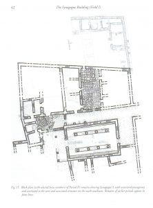 Plan of synagogue and surrounding structures. Meyers and Meyers 2009:   62, courtesy of Eric Meyers © <i> synagogues.kinneret.ac.il </i>