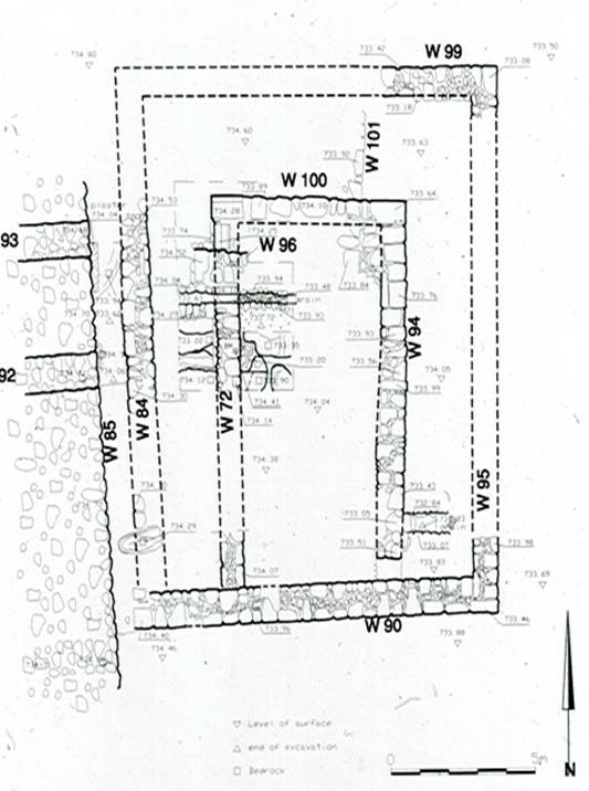 Reconstructed plan, Aviam 2002: Fig.F, Plan 2 © <i> synagogues.kinneret.ac.il </i>