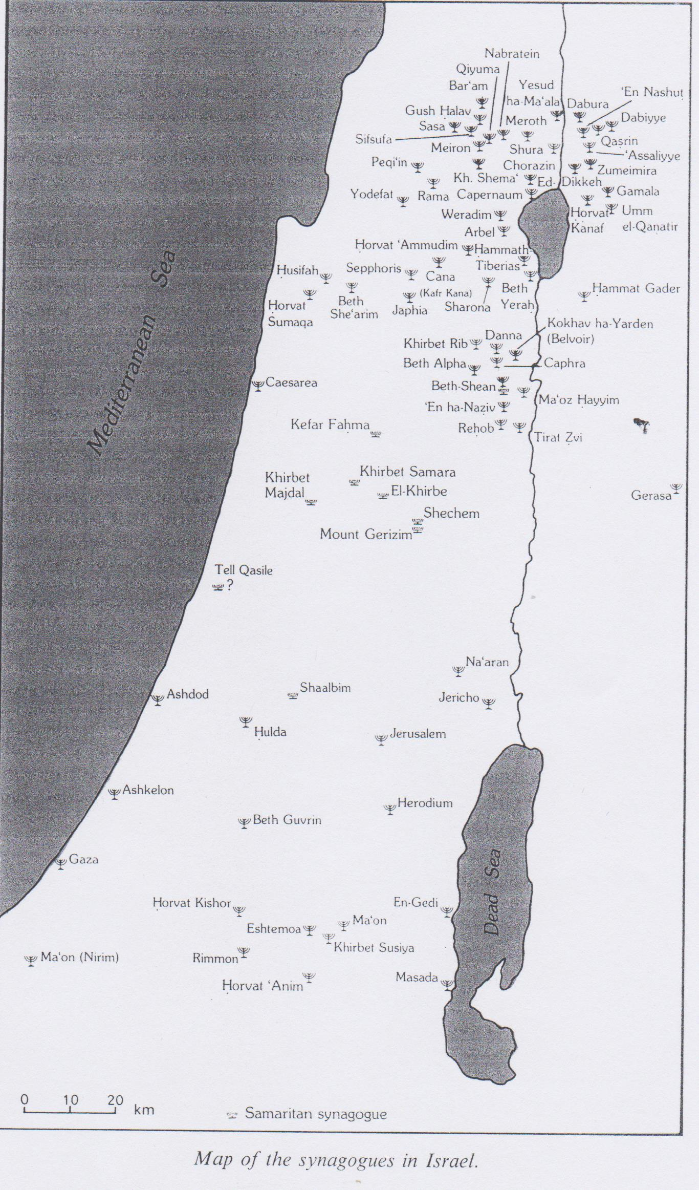 Distribution Maps of Ancient Synagogues - The Bornblum Eretz ...