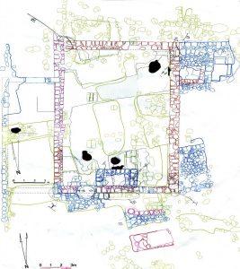 תוכנית בית הכנסת. באדיבות אוניברסיטת Puget Sound והקולג' לארכיאולוגיה בחרבת קנה. © <i> synagogues.kinneret.ac.il </i>