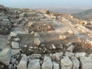 view to south. Photo by Douglas Edwards, used by permission of the University of Puget Sound and Centre College Excavations at Khirbet Qana © <i> synagogues.kinneret.ac.il </i>