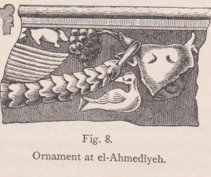 A relief with animals, Schumacher 1888: 72 © <i> synagogues.kinneret.ac.il </i>
