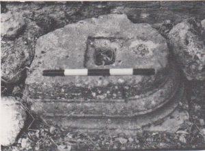 Base. Ilan 1991: 221. Courtesy of Almoga Ilan. © <i> synagogues.kinneret.ac.il </i>