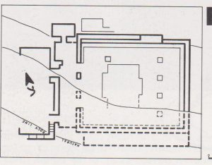 Schematic plan Ilan 1991: 153, courtesy of Almoga Ilan © <i> synagogues.kinneret.ac.il </i>
