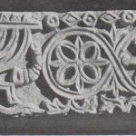 Menorah on chancel Sukeinik 1935: plate XV © <i> synagogues.kinneret.ac.il </i>
