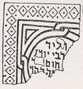 Mosaic with Aramaic Inscription. Ilan 1991: 221. Courtesy of Almoga Ilan. © <i> synagogues.kinneret.ac.il </i>