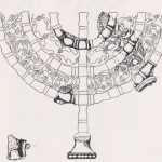 Reconstruction of marble Menorah, courtesy of Gideon Foerster © <i> synagogues.kinneret.ac.il </i>