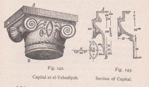 Ionic capital, Schumacher 1888: 271 © <i> synagogues.kinneret.ac.il </i>